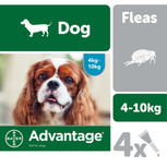Advantage flea drops dogs 4-10kgs